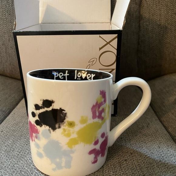 NWT Lenox Paw Prints Pet Lovers Mug 10 oz.